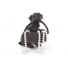 Статуэтка собака с корзиной
