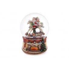 Водяной музыкальный шар Санта на коне