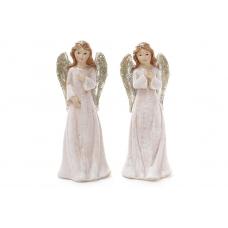 Фигурка ангел белый с серебрянными крылами