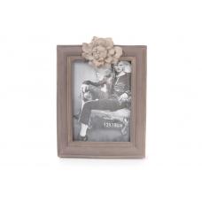 Рамка для фото с розовым цветком