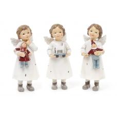 Статуэтка ангел с игрушкой