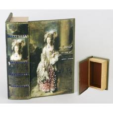 Шкатулка книга со стразами