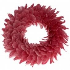 Венок с розовых перьев
