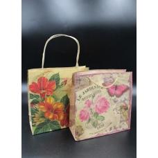 Пакет крафтовой с цветами