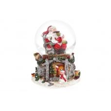 Водяной шар Санта у камина