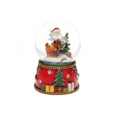 Водяной шар Санта с летящим снегом