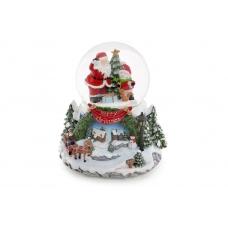Водяной шар Санта с музыкой и летящим снегом