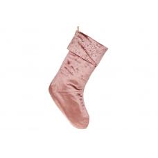 Бархатный сапожок для подарков розовый