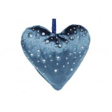 Подвесной декор Сердце бархатное