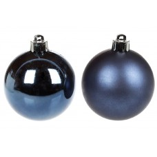 Елочный шар синий 2-х видов