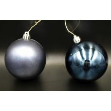 Елочный шар синий 2-х видов (мат,глянец)