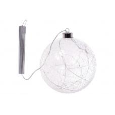 Елочный шар с LED-подсветкой прозрачный