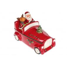 Банка для сладостей Санта в машине