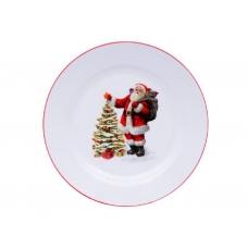 Блюдо новогоднее с Сантой
