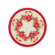 Салфетка под тарелку с красным венком