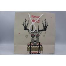 Пакет ламинированный рождественский