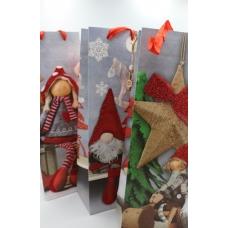 Пакет под бутылку новогодний