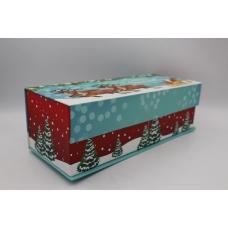 Подарочная коробка Санта с оленями М
