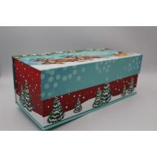 Подарочная коробка Санта с оленями