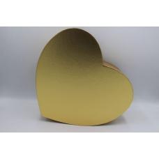 Коробка золотое сердце