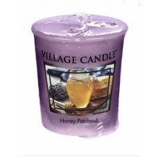 арома свеча  village candle медовый пачули