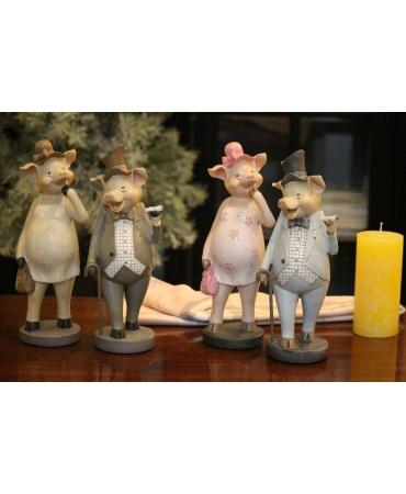 статуэтка свинка с сумочкой